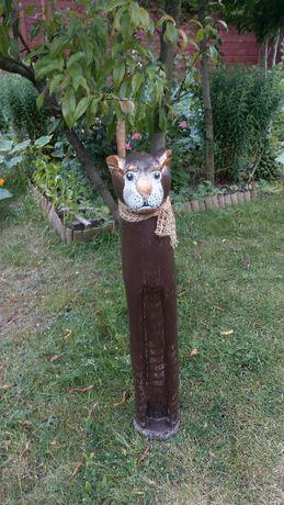 Kot figurka b. duża drewniana