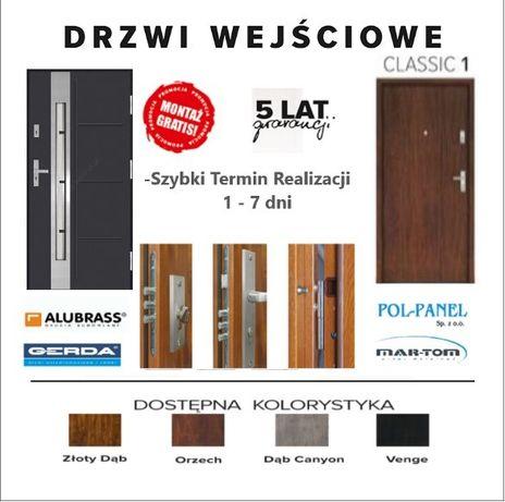 Drzwi do mieszkań wejściowe do domów z montażem od 990 zł.