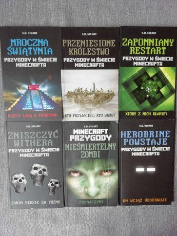 """Zestaw książek """"Przygody w świecie minecrafta"""" Stuart"""