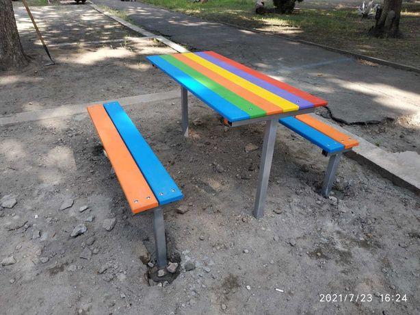 Лавочка і столик на дитячий майданчик/ столик на детскую площадку
