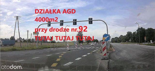 4000m2,zjazd z drogi nr.92 Kostrzyn Wlkp,poznański