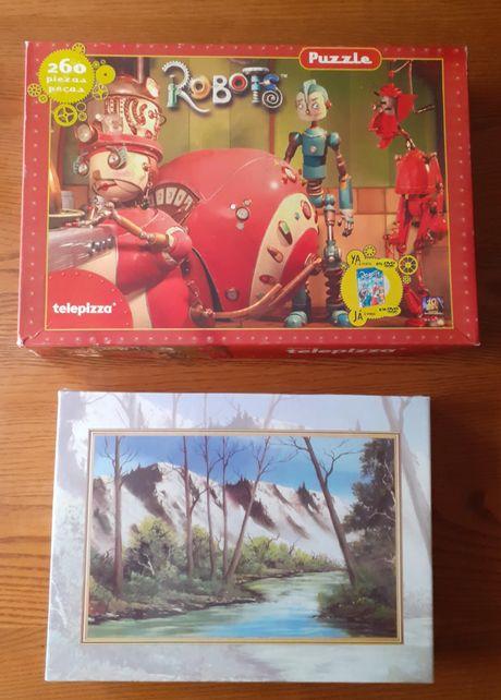 2 puzzle - Robots 260 peças - paisagem 500 peças (novo)