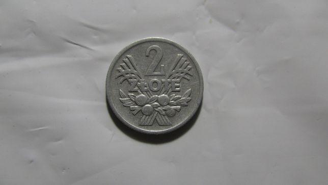 Монета 2 Злотых Польша 1974 года