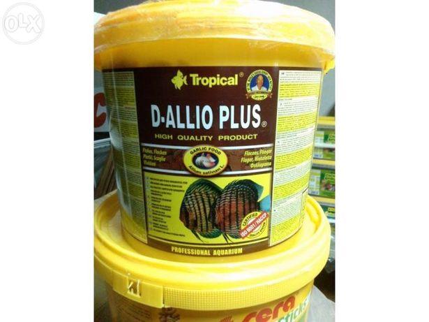Comida Peixes Flocos Tropical D-allio plus avulso 500ml Promoção