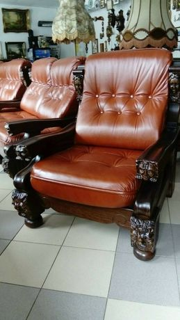 Кожаная мебель на дубовом каркасе, эксклюзивная кожаная мебель