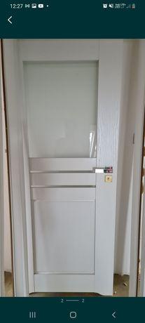 """Drzwi białe z podcięciem łazienkowe szerokość  """"80"""""""