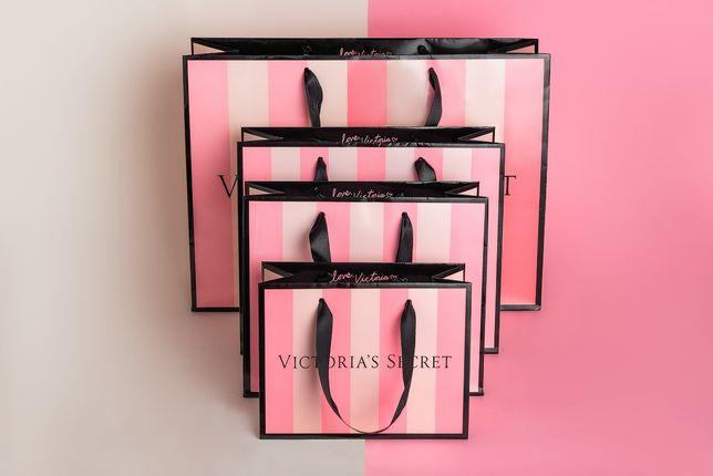 Брендовые бумажные пакеты Victoria's Secret