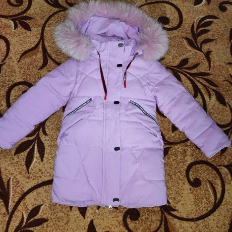 Пальто зимняя на рост 104+-110