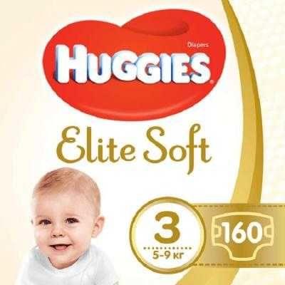 Подгузник Huggies Elite Soft 3 (5-9 кг) 160 шт
