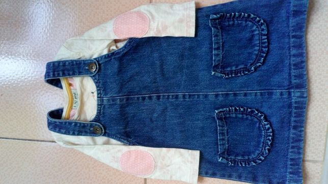 Джинсовый сарафан кофта Next ,джинси h&m