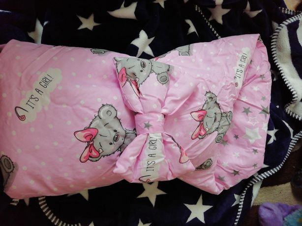 Конверт - одеяло для выписки из роддома