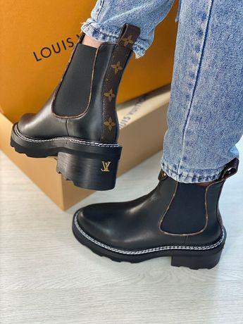 Ботинки Louis Vuitton кожаные осенние ботинки
