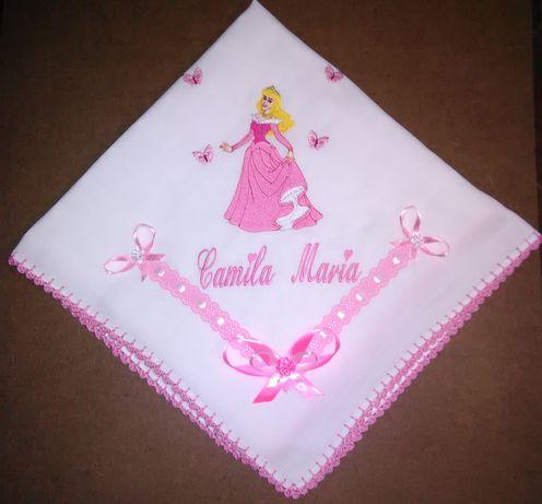 "Fralda Bordada ""Princesa Aurora - Disney"""