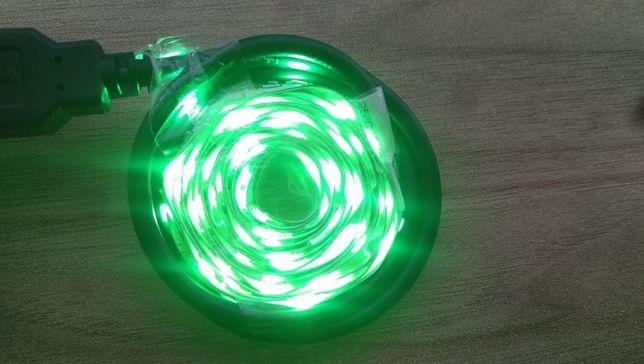Taśma LED 1M Zielony 5V USB TV Podświetlenie i inne możliwości