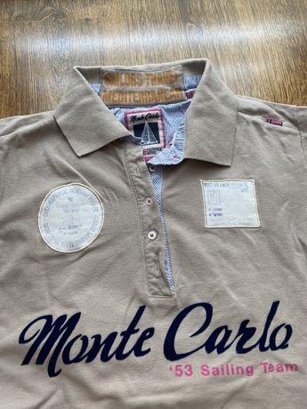 Beżowa koszulka polo, rozmiar M
