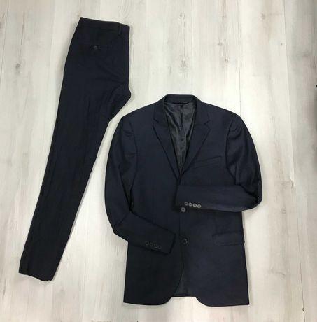 М Костюм шерстяной овечья шерсть wool приталенный пиджак брюки DKNY