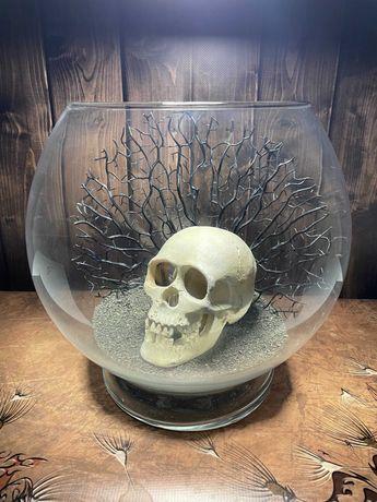 аквариум шар с оформлением