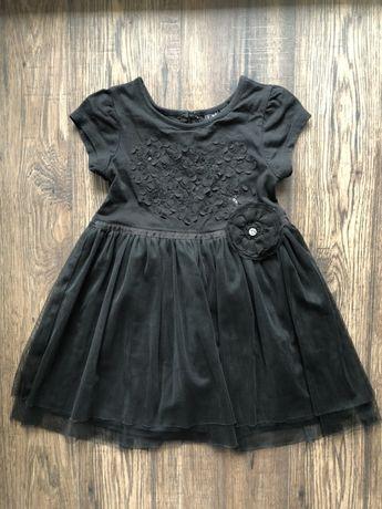 Elegancka czarna sukienka tiulowa, Next, roz. 92
