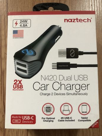 Naztech N420 Dual USB Car Charger 2xUsb