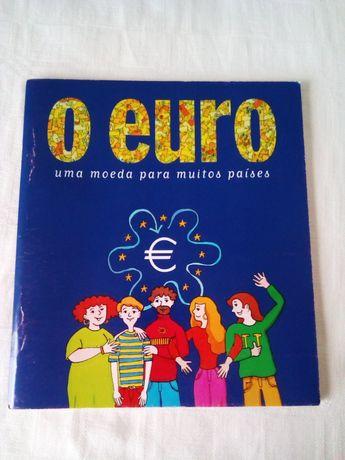 """Livro """" O euro, uma moeda para muitos países"""" Edição de 1998"""