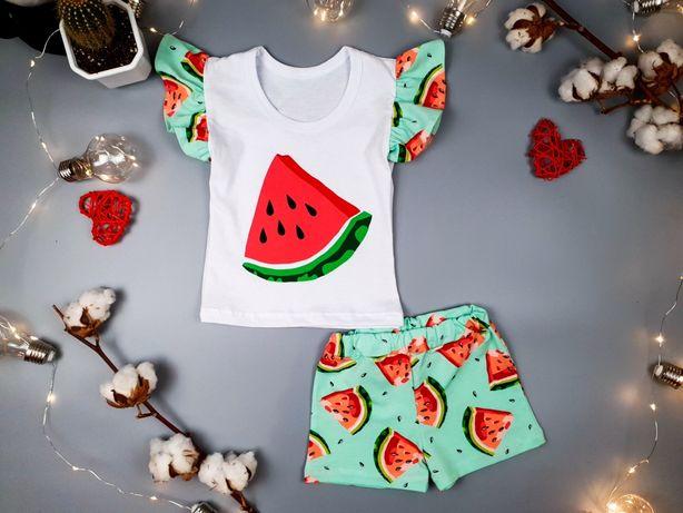 Летний костюм літній для девочки дівчинки 86-92-98-104-110 см 2-3-4 г