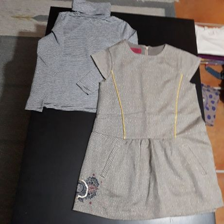 Conjunto menina 4/5 anos, vestido e camisola