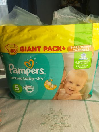 Підгузники Pampers active baby-dry 88 штук