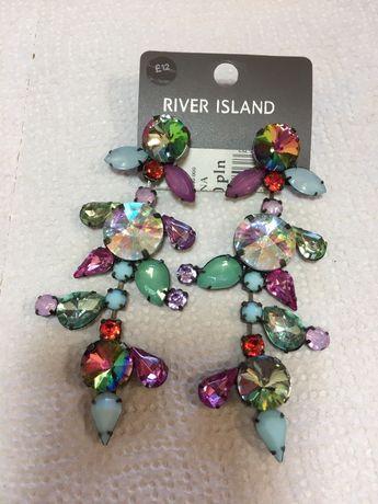 Kolczyki River Island z kamieniami
