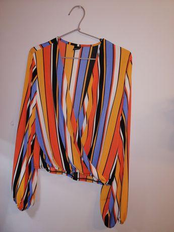 Kolorowa koszulka gina tricot rozmiar L