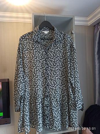 Туника рубашка блуза большого размера  H&M