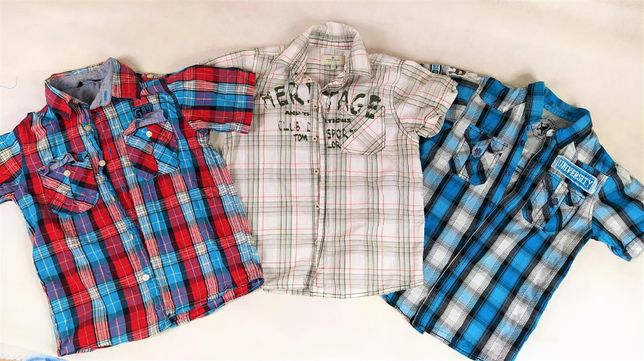 3 Koszule 8/9lat 128/134 krótki rękawek dla chłopca