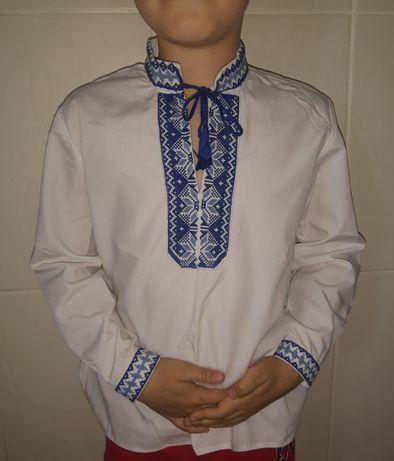 Рубашка вышиванка/ сорочка вишиванка на 6-8 лет