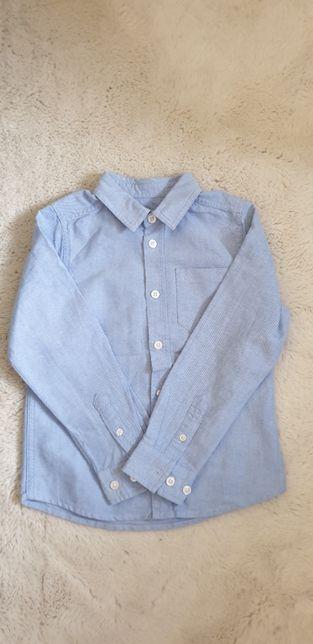 Koszula niebieska dla chłopca 122 cm