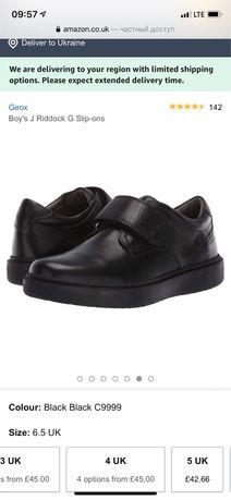 Кожаные туфли ботинки Geox школьные полуботинки 40р