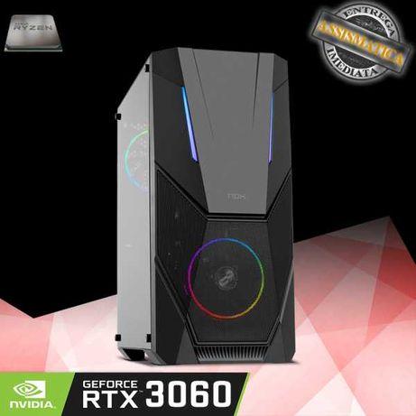Computador AMD Ryzen 5 3600 com RTX3060 de 12GB