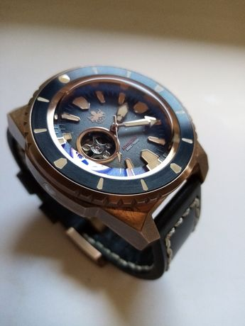 Phoibos diver bronze open heart (Seiko, Citizen,Tissot, Certina)