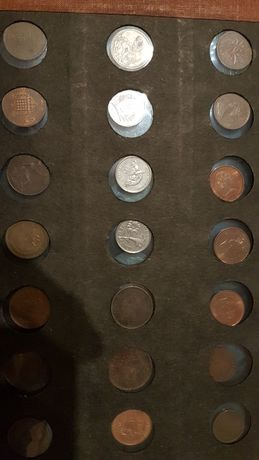 kolekcja monety Funty Brytyjskie z kolonią brytyjską.