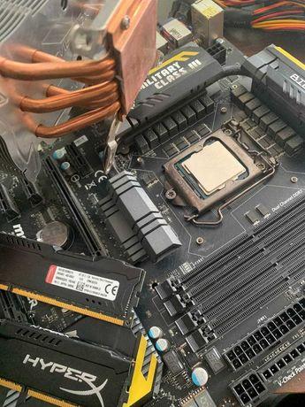 Материнка Z77 Mpower, проц i5-3570k, оперативка HyperX 16g FURY +башня