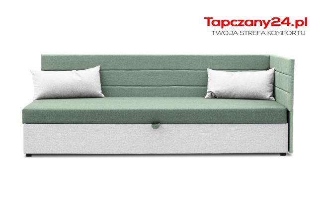 Łóżko tapicerowane 90/195 Tapczan młodzieżowy jednoosobowy hotelowy