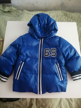 Пуховая курточка фирмы beneton, бенетон на 1 год, пуховик, куртка.