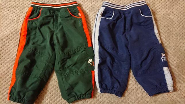 Ciepłe spodnie na chłopca 68 i 74