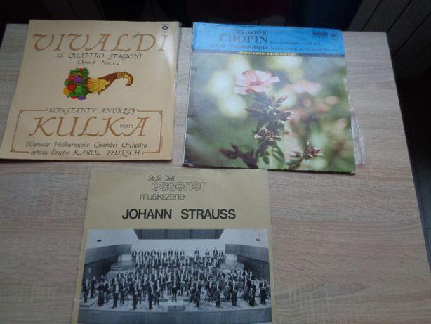 płyty płyta winylowa Strauss Chopin Vivaldi muzka poważna