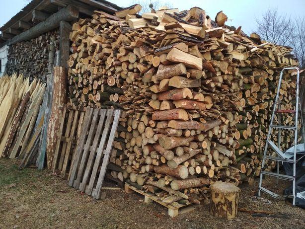 Opał, drewno wierzba, olcha, opałowe sezonowane pocięte suche drzewo