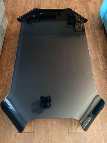 Szklany czarny stolik Ława do salonu