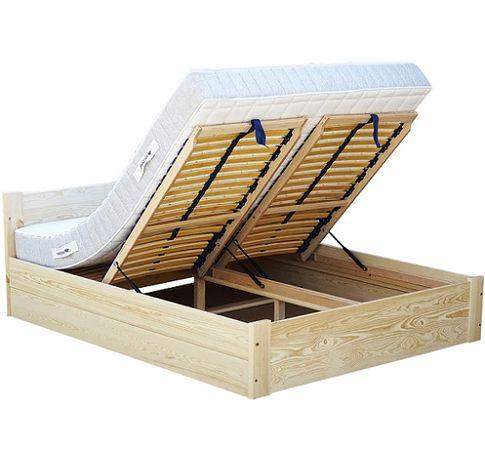 VENA 90x200 łóżko otwierane stelaż regulowany głęboki pojemnik