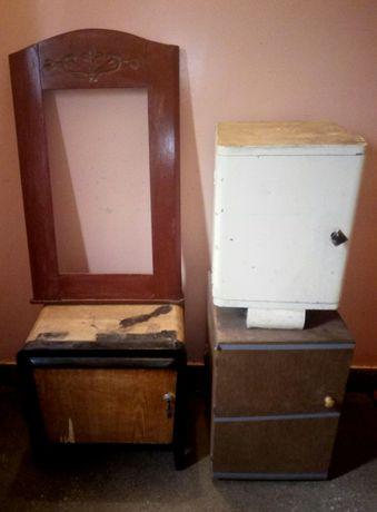 Meble, krzesła, szafki. Meble PRL. Renowacja.