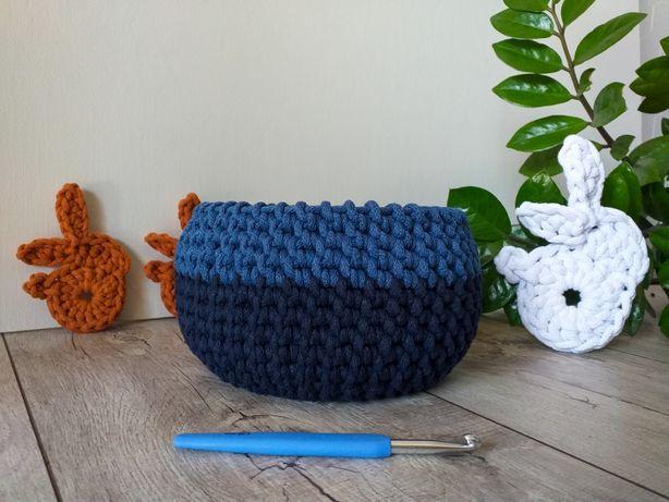 Kosz koszyk ręcznie robiony na szydełku handmade