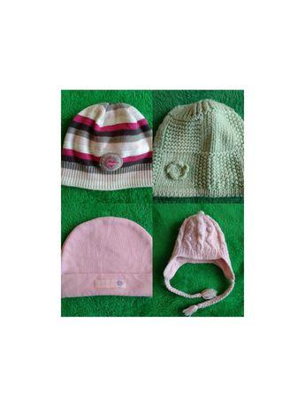 Ciepłe czapeczka 38 czapka zima jesien 56 62 dla noworodka
