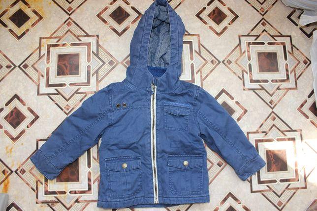 Куртка ветровка на 1-2 года синяя