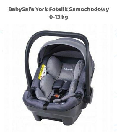 Fotelik samochodowy Baby Safe 0 -13kg +adapter do łączenia fotelika